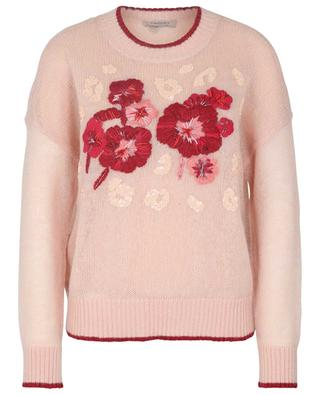 Airy flower embroidered mohair jumper TWINSET