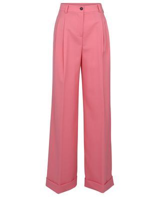 Wide leg wool blend trousers with pleats TWINSET