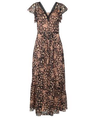 Langes ärmelloses Kleid aus geblümtem Musselin TWINSET