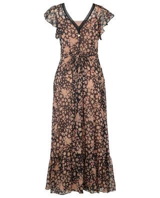 Long sleeveless floral chiffon dress TWINSET