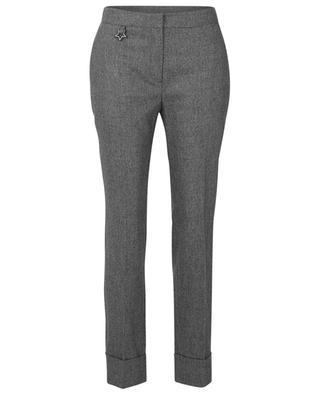 Virgin wool tapered-leg trousers LORENA ANTONIAZZI