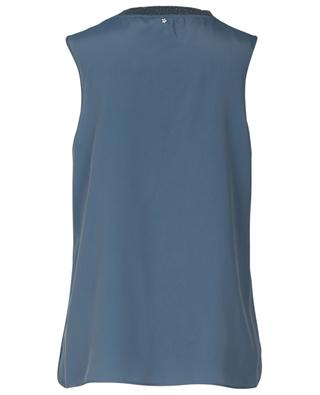 Shimmering sleeveless A-line top with knit LORENA ANTONIAZZI