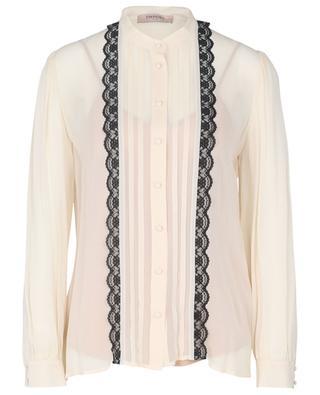 Lace embellished chiffon shirt TWINSET