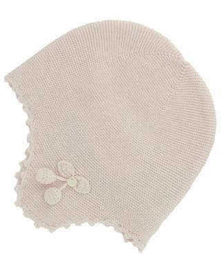 Bonnet tricoté en coton, laine et viscose TARTINE ET CHOCOLAT