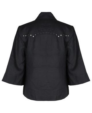 Boxy-Hemd aus Leinen mit Nieten GANNI