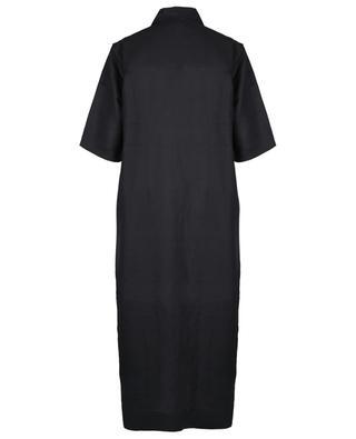 Oversize-Hemdkleid aus Leinen mit Nieten GANNI