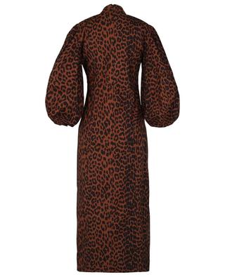 Leopard printed organic cotton maxi dress GANNI