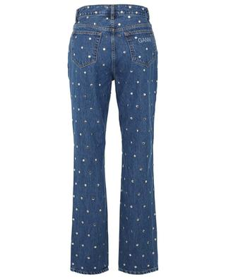 Studded straight-fit high-rise jeans in organic cotton GANNI