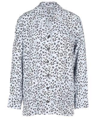 Chemise oversize esprit pyjama en Ecovero imprimé feuillage GANNI