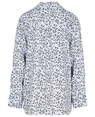 Oversize-Pyjama-Spirit-Hemd aus Ecovero mit Blattwerkprint GANNI