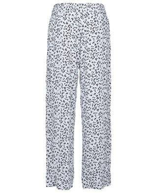 Responsible wide-leg pyjama spirit trousers with plant print GANNI
