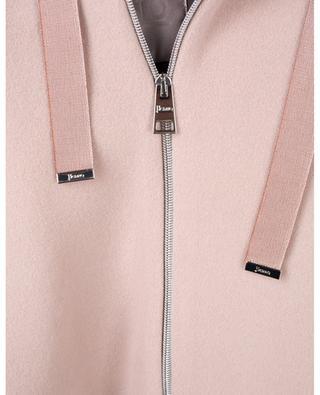 Mantel aus dicker Wolle mit Reissverschluss und Kapuze HERNO