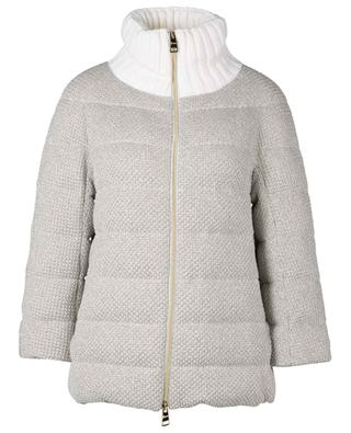 Glittering knit down jacket with stand-up collar HERNO