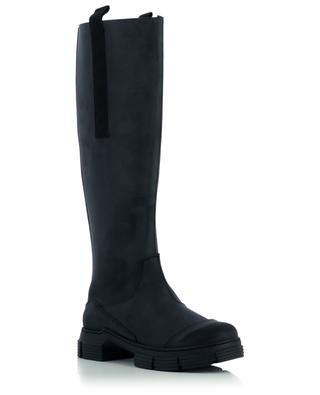 Country recycled rubber knee boots GANNI
