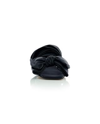 Sandales à talon en cuir souple à nouer détail noeud GANNI