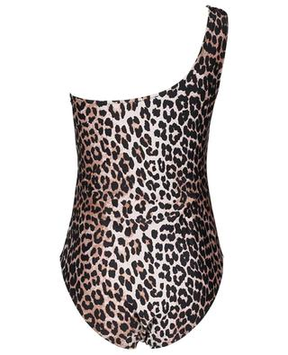 Asymmetrical Econyl swimsuit with leopard print GANNI