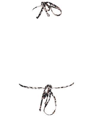 Haut de bikini triangle imprimé léopard GANNI