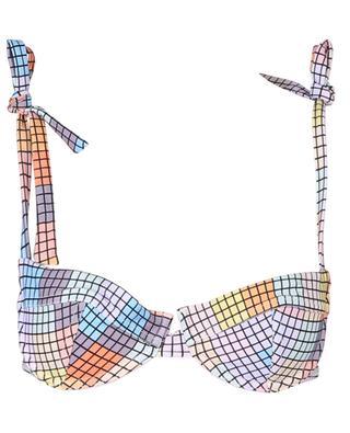 Bikinioberteil mit buntem quadratischem Print GANNI