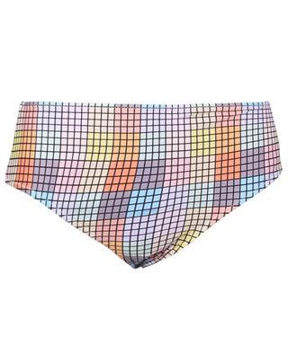 Bikinihöschen mit hohem Taillenbund und buntem Print GANNI