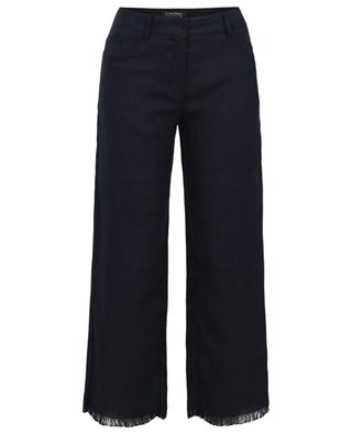 Paniere frayed straigth-fit trousers in canvas 'S MAXMARA