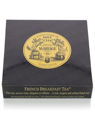 French Breakfast Tea muslin tea sachets MARIAGE FRERES