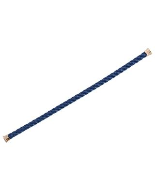 Force 10 Large blue bracelet cable with pink ends FRED PARIS