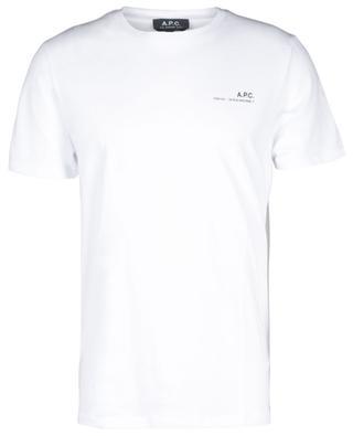 T-shirt en jersey de coton bio imprimé logo Item A.P.C.