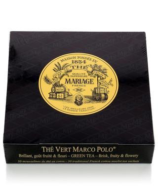 Thé Vert Marco Polo tea sachets MARIAGE FRERES