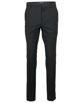 Pantalon slim en laine et mohair à rayures latérales VALENTINO