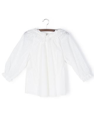 Bellitude Gather Neck Smock openwork embroidery blouse ZIMMERMANN