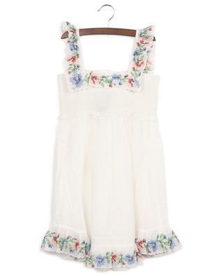 Juliette Cross Stitch cotton strappy dress ZIMMERMANN