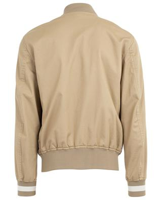 Bally 1851 gabardine bomber jacket with leather details BALLY