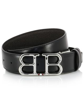 Britt reversible leather belt with monogram buckle BALLY
