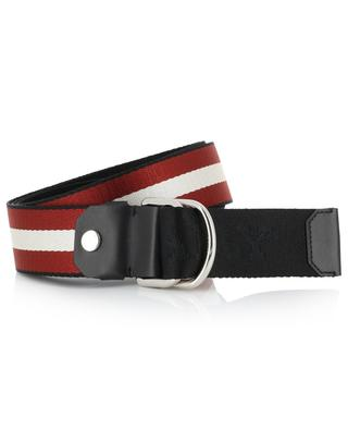 Copper sporty chic nylon belt BALLY