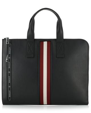 Henri leather briefcase with stripe detail BALLY