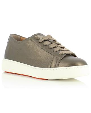 Sneakers aus genarbtem Metallic-Leder SANTONI