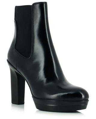 Heeled platform chelsea ankle boots in patent leather SANTONI