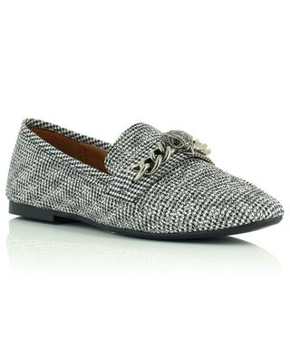 Chelsea houndstooth check fabric loafers with chrystals KURT GEIGER LONDON