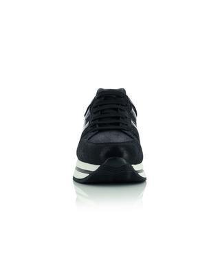 Niedrige Sneakers aus texturiertem Wildleder und Lackleder H222 HOGAN