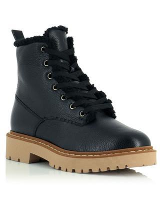 H543 faux-fur lined lace-up ankle boots HOGAN