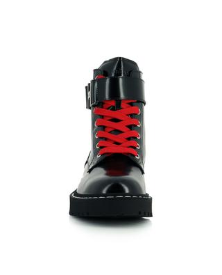 H543 Anfibio patent leather lace-up booties HOGAN