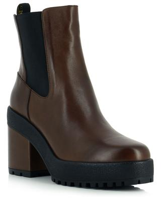 H537 platform and block heel Chelsea ankle boots in leather HOGAN