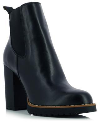 H542 heeled leather Chelsea booties HOGAN
