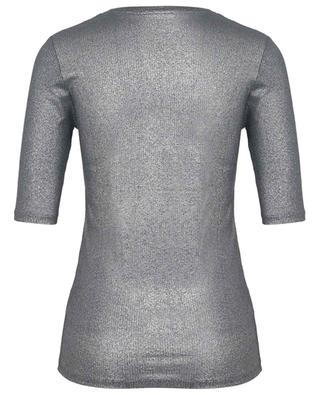 Extrafine Superwashed ribbed lamé jersey T-shirt MAJESTIC FILATURES