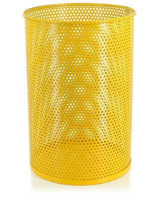 Corbeille en fer perforé jaune HAY