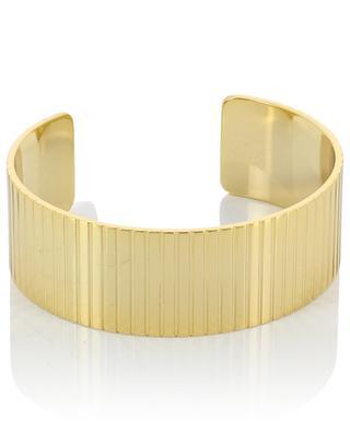 Dimore striated golden brass cuff BANGLE UP