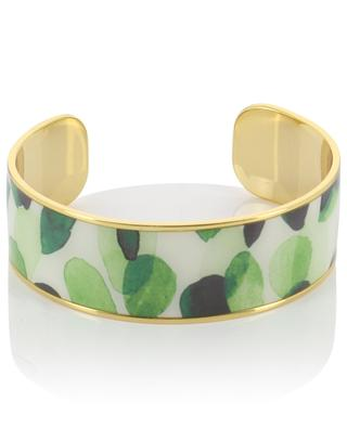 Eden cactus motif golden brass cuff BANGLE UP