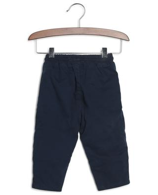 Logo printed gabardine trousers KENZO