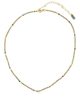 Bead necklace with shell pendant MOON°C PARIS