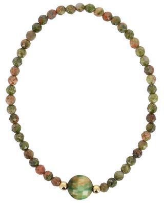 Elasticated bracelet in small facetted stones MOON°C PARIS